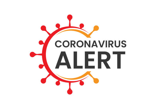corona virus. covid-19, corona virus infection emblem flat vector illustration. - coronavirus stock illustrations