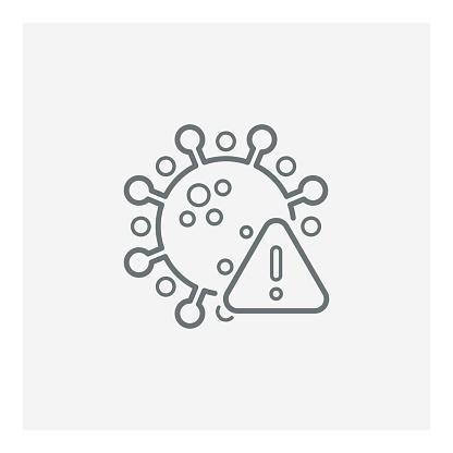 Corona virus. Covid-19, Corona virus infection emblem icon