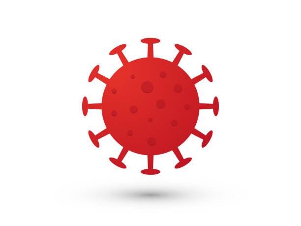 corona virus covid-19 simple red icon vector art illustration