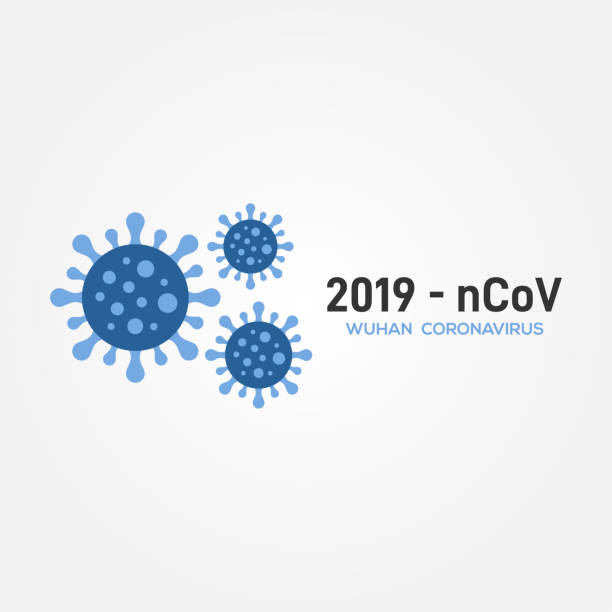 corona virus vector design for banner or background - covid stock illustrations