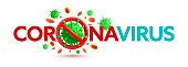 istock Coronavirus 2019-nCoV banner with stop sign and green virus cells on white background.Stop COVID-19 Corona virus outbreaking concept.Vector illustration eps 10 1221610246