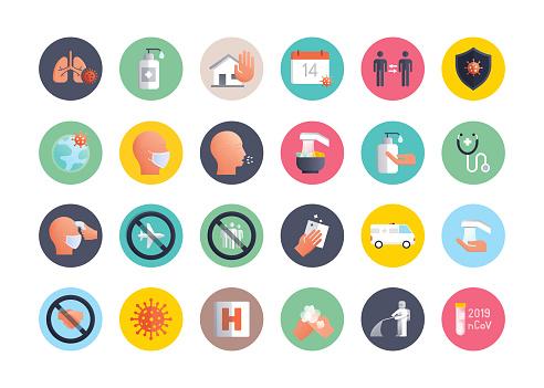Coronavirus 2019-nCoV - Vector Flat Icon - Simple Symbol, Premium Quality Design Element