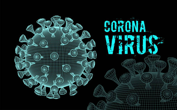 Coronavirus 2019-nCoV virus. Vector 3d illustration on black Coronavirus 2019-nCoV virus. Vector 3d illustration on black background sudden acute respiratory syndrome stock illustrations