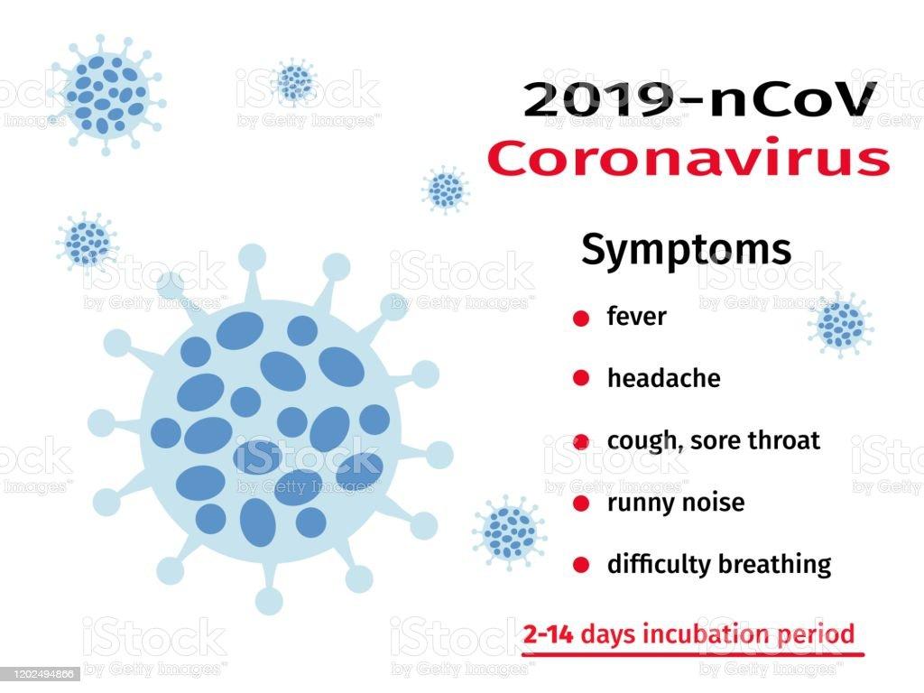 Coronavirus Alert 2019ncov Virus Symptoms Global Epidemic Stock