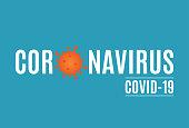 Coronavirus background with virus cell. Covid-19. Vector illustration. EPS10
