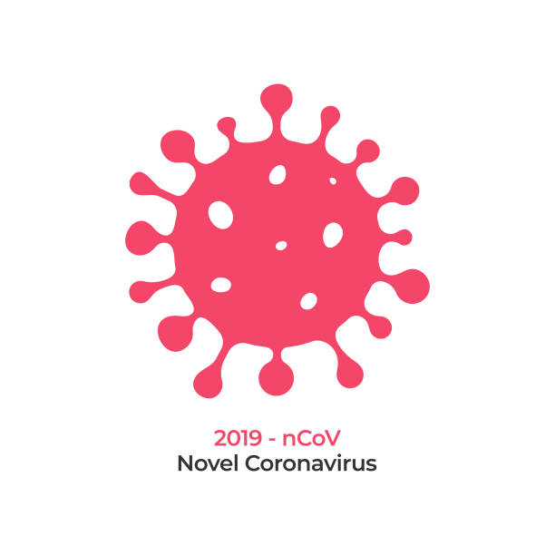 coronavirus cell icon vector design on white background. - coronavirus stock illustrations