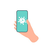 istock CoronaVirus Covid-19 Application icon and social design vector illustration. 1251384385
