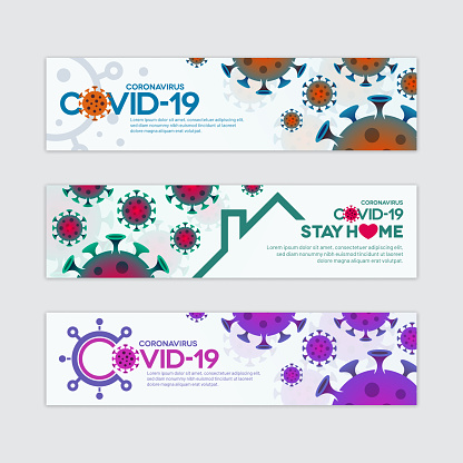 Coronavirus Covid-19 Banner Set