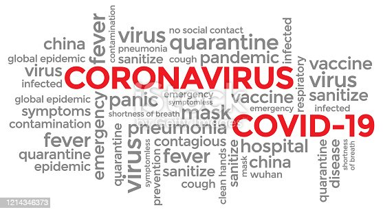 istock Coronavirus Covid-19 typography design 1214346373