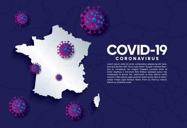 illustrations, cliparts, dessins animés et icônes de coronavirus, covid-19, virus, pandémie, fond - covid france