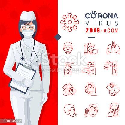 istock Coronavirus detailed infographic about virus prevention. 1216138022