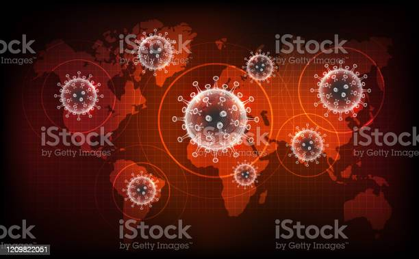 Coronavirus Disease Covid19 Infection Medical New Official Name For Coronavirus Disease Named Covid19 Pandemic Risk On World Map Background Stock Illustration - Download Image Now