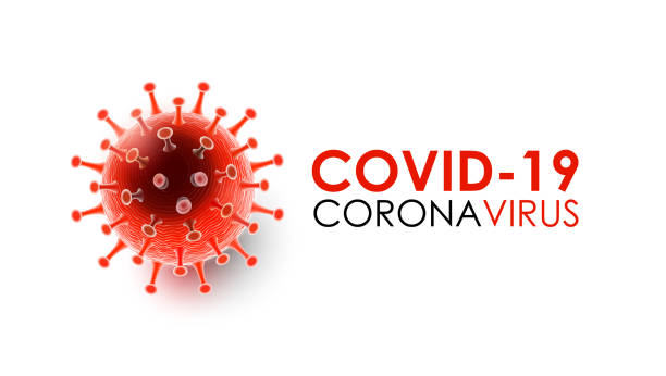 Coronavirus disease COVID-19 infection medical with typography and copy space. New official name for Coronavirus disease named COVID-19, pandemic risk background vector illustration vector art illustration