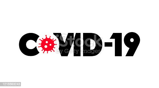 istock Coronavirus disease COVID-19 infection medical with typography and copy space. New official name for Coronavirus disease named COVID-19, pandemic risk background vector illustration 1215563243