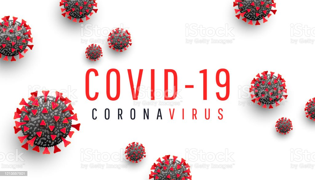 Coronavirus disease COVID-19 medical web banner with SARS-CoV-2 virus molecule and text on a white background. World pandemic 2020. Horizontal vector illustration Corona virus disease COVID-19 medical web banner with SARS-CoV-2 virus molecule and text on a white background. Horizontal vector illustration 2020 stock vector