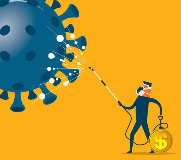 Coronavirus - Wirtschaftskrise – Vektorgrafik