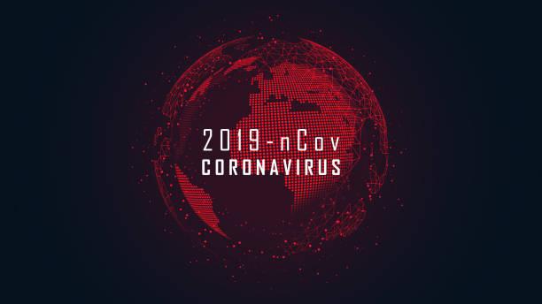 Ausbruch der coronavirus-Globalen Pandemie – Vektorgrafik