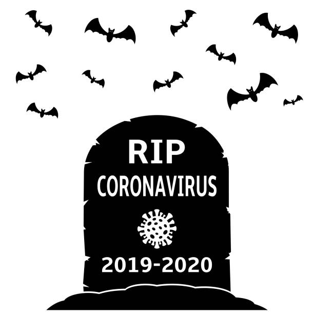 stockillustraties, clipart, cartoons en iconen met coronavirus grafsteen. vector illustratie concept grafsteen van het coronavirus covid-19 - tears corona