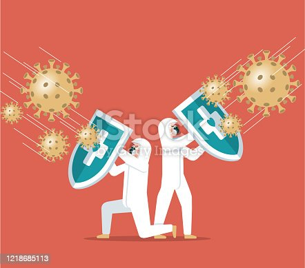 istock Coronavirus - Hygienic shield 1218685113