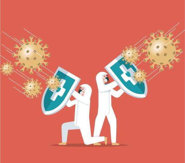 Coronavirus - Hygienischer Schutzschild – Vektorgrafik
