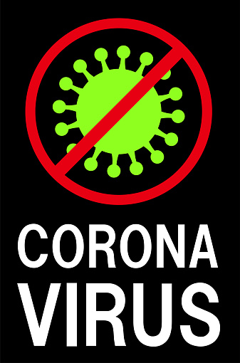 Coronavirus illustration, infection prevention, alert