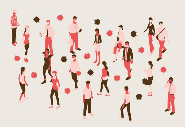 Coronavirus illustration vector art illustration