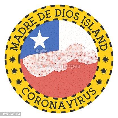 istock Coronavirus in Madre de Dios Island sign. 1269341684