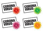Vector COVID-19 Coronavirus Inscription Typography