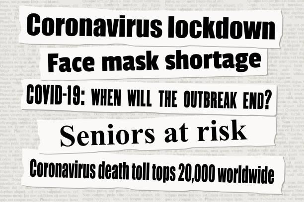 冠狀病毒鎖定新聞 - 報紙頭條 幅插畫檔、美工圖案、卡通及圖標