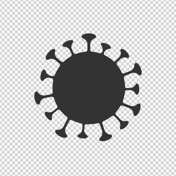 Coronavirus, Novel Virus 2019-nCoV Cell Icon Vector Design on Transparent Background. Scalable to any size. Vector Illustration EPS 10 File. backgrounds clipart stock illustrations