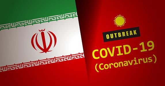 Coronavirus Outbreak Warning Sign With IRANIAN Flag
