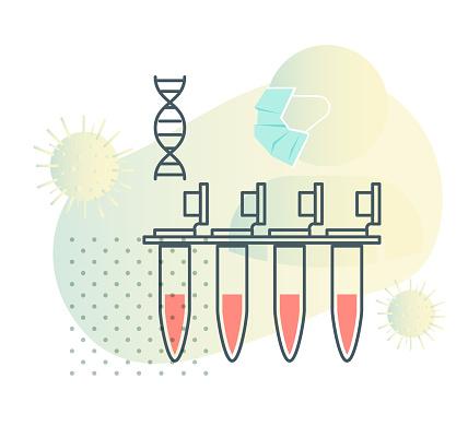 Coronavirus - PCR Testing - Illustration
