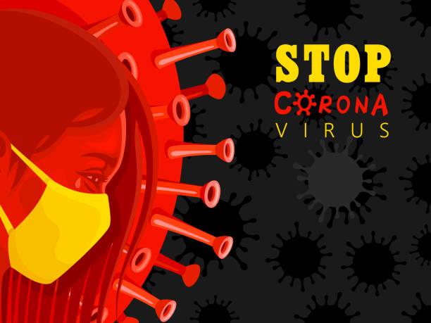 Coronavirus Poster Concept vector art illustration