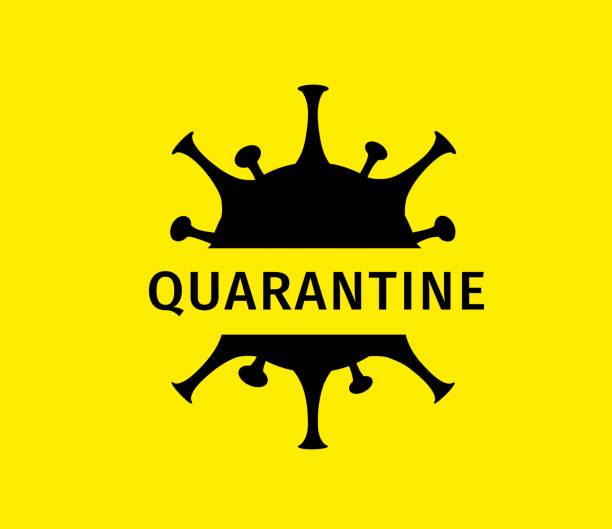 Coronavirus quarantine banner. Protection against dangerous virus vector art illustration