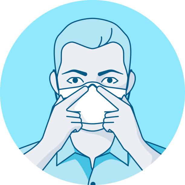 coronavirus sicherheitsmaske ffp2, ffp3, kn95 - ffp2 maske stock-grafiken, -clipart, -cartoons und -symbole