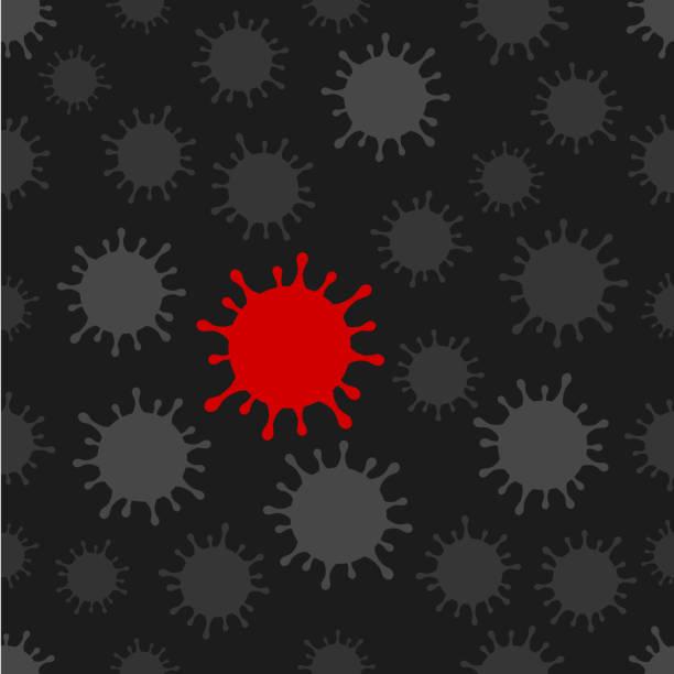 Coronavirus Seamless Background vector art illustration