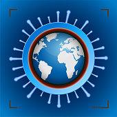 Coronavirus Spread Planet