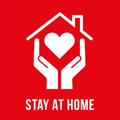 Coronavirus - Stay at Home Symbol.