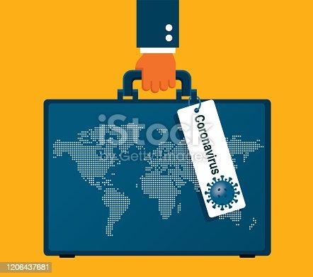 Coronavirus Spread Plane stock illustration