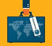 istock Coronavirus - Suitcase 1206437681