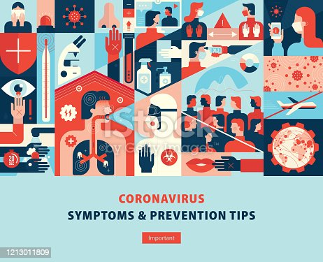 istock Coronavirus Symptoms And Prevention Tips Template Cover 1213011809