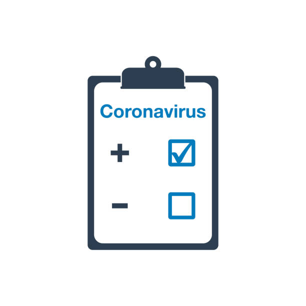 coronavirus test icon. editable vector symbol illustration. - covid testing stock illustrations