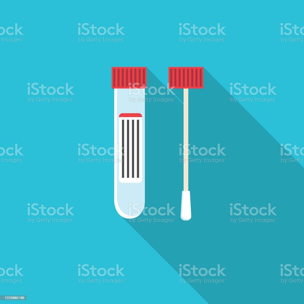 Coronavirus-Testsymbol - Lizenzfrei Abstand halten - Infektionsvermeidung Vektorgrafik
