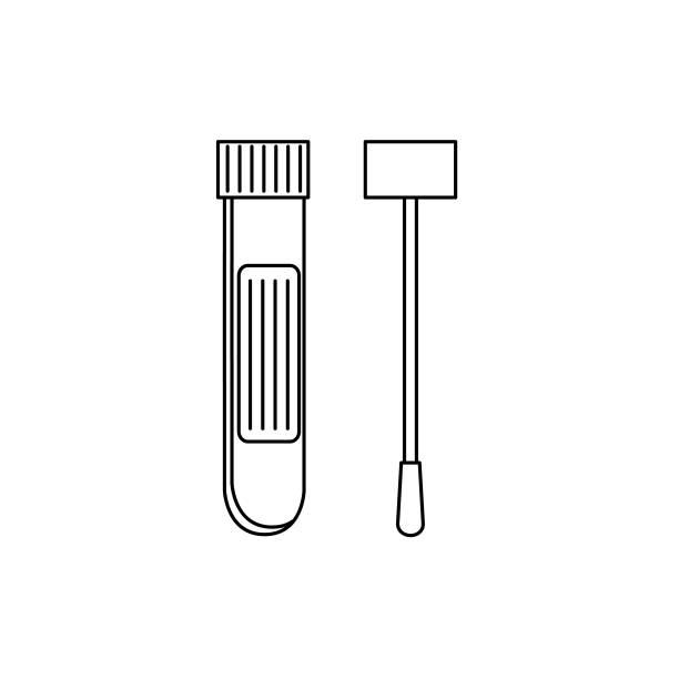 Coronavirus Test Icon vector art illustration