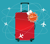 istock Coronavirus - Travel Suitcase 1204963744
