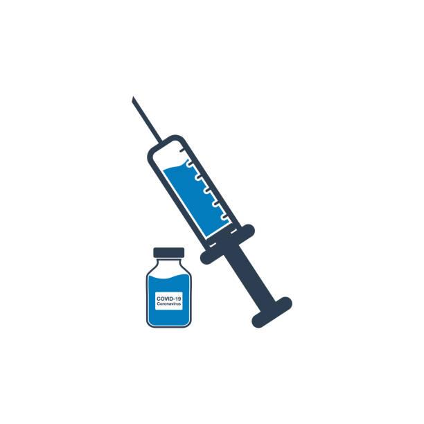 ilustraciones, imágenes clip art, dibujos animados e iconos de stock de coronavirus (covid-19 o 2019-ncov) icono de vacuna e inyección. ilustración de símbolo vectorial editable. - covid vaccine