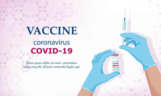 Coronavirus vaccine COVID-19. Vector illustration