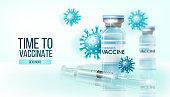 Virus prevention, COVID-19 treatment, cure scientific health concept. Coronavirus vaccine vector illustration