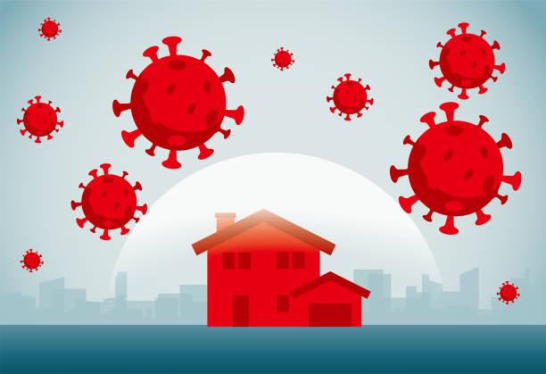 Coronavirus commercial illustrator biohazardous substance stock illustrations