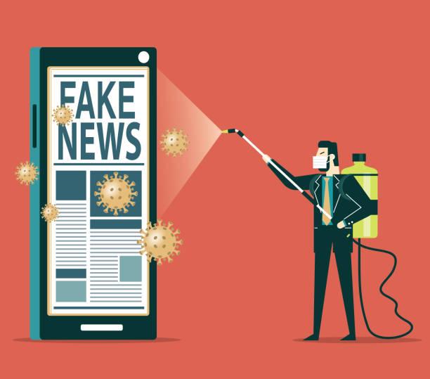 ilustrações, clipart, desenhos animados e ícones de pare o coronavírus das fake news - social media